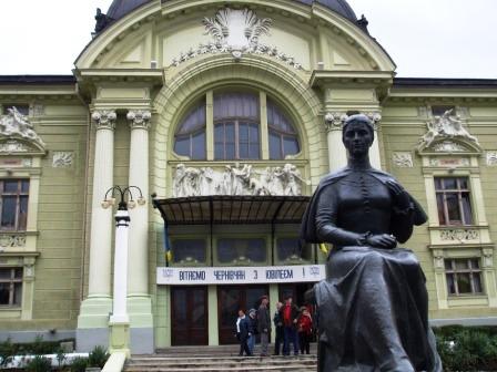 Außenansicht Theater in Czernowitz