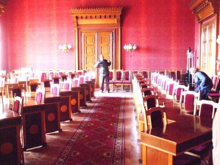 Roter Saal - früher: Franz-Josephs-Universität Czernowitz; heute: Nationale Jurij-Fedkowytsch-Universität Czernowitz