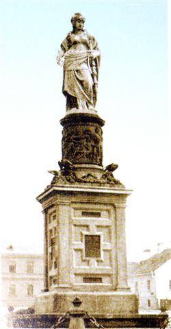 Das alte Austria-Denkmal in Czernowitz